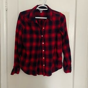 Aerie flannel plaid red shirt